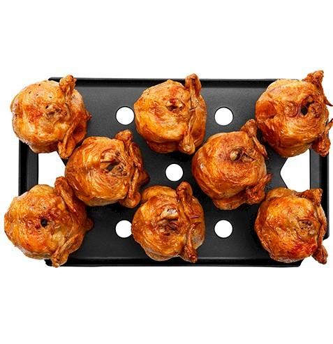 96 polli allo spiedo in 30 min